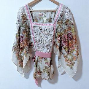 Anthropologie TINY Begonia Kimono Top